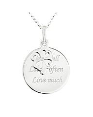 Silver Live, Laugh, Love Pendant
