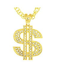 Gold  Plated Dollar Pendant & chain