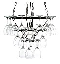 Black 3 Tier Wine Glass Chandelier
