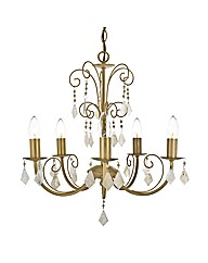 Serenity Cream and Gold Chandelier