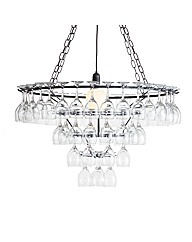 Black 4 Tier Wine Glass Chandelier