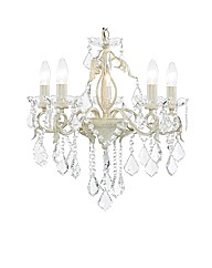 Romeo 5 Light Cream and Gold Chandelier