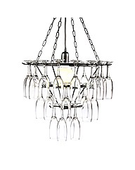 Black 3 Tier Champagne Glass Chandelier
