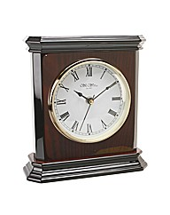 Square Shaped Wooden Mantel Clock
