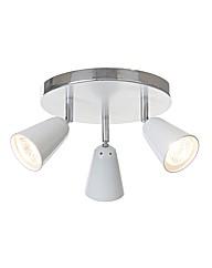 Thimble White 3 Light  Spotlight