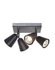Thimble Black 4 Light Spotlight