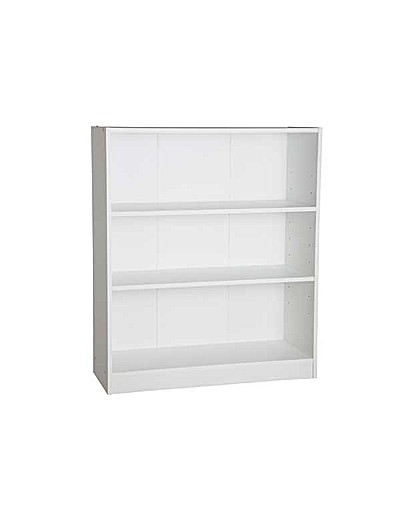 Maine Small Extra Deep Bookcase - White
