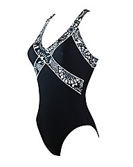 Zoggs Optic Chic Crossback Swimsuit