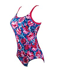 Zoggs Summer Bloom Hi Back Swimsuit