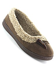 Dr Keller Firewood Wide Fit Slipper