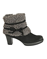 Caprice Abby Fur Top Suede Ladies Ankle