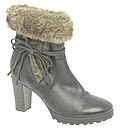 Caprice Carrie Womens Fur Trimmed Ankle