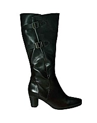 Gabor Spook Womens Black Leather Long Ad