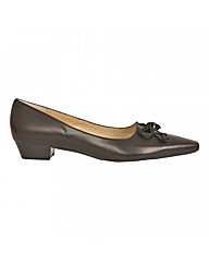 Peter Kaiser Lizzy Black Leather Low Hee
