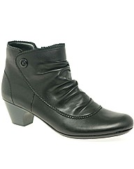 Rieker Vintage Button Trim Ankle Boots