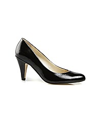 Holt Black Feature Court Shoe
