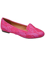Ravel Louisa      Fuchsia Lace Slip on