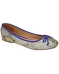 Ravel Liza   Natural Snake/purple pump
