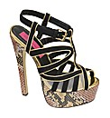 Dolcis Strappy Snake Platform