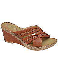 Manfield Plaited Detail Wedge