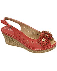 Manfield Flower Trim Wedge