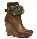 Moda in Pelle Maroon Ladies Boots