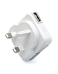 Veho Mains USB Charger for Apple/USB