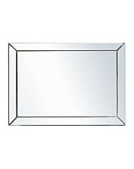 Large Glass Bevelled Wall Mirror  Silver