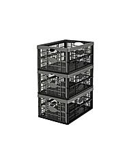 32 Litre Plastic Folding Strage Crates