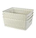 Set of 3 Rattan My Style Storage Boxes