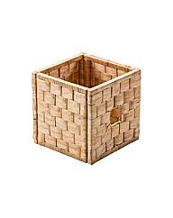Water Hyacinth Woven Cube Storage Basket