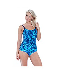Zoggs Blue Planet Hi Back Swimsuit