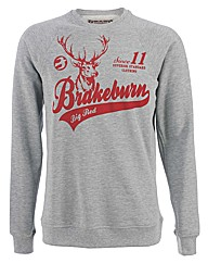 Mens Grey Big Red Crew Sweatshirt