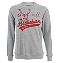 Brakeburn Grey Big Red Crew Sweatshirt