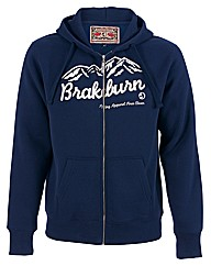 Mens Blue Mountain Zip Hoody