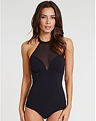 Icon High Neck Mesh Shaping Swimsuit