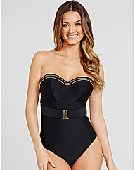 Britt Underwired Bandeau Belted Swimsuit