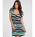 Venus Split Sleeve Stripe Cover Up