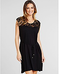 Miami Lace Top Jersey Dress