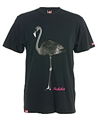 Mens Black Flamingo Tee