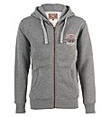 Mens Grey Crossed Oars Hoody