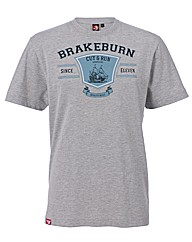 Mens Grey Cut & Run Tee