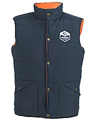Mens Navy Bramble Gilet