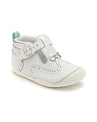 Start-rite May White Leather Fit E Shoes