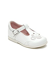 Start-rite Pixie Wht Patent Fit E Shoes