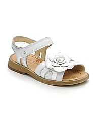 Start-rite Ava Wht Leather Fit F Sandal