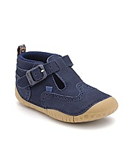 Start-rite Harry Navy Nubuck Fit H Shoes