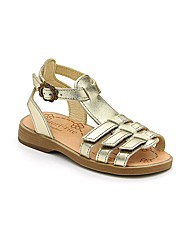 Start-rite Pia Gold Leather Fit F Sandal