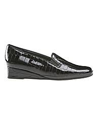 Rochester II - Black Patent Croc / Black