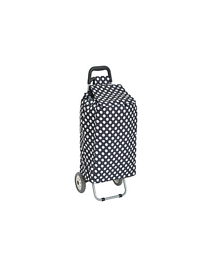 Shopping Trolley - Navy Polka Dot.